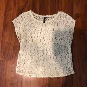 Lace Sheer Short Sleeve
